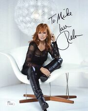 Reba Mcentire Hand Signed 8x10 Color Photo Gorgeous Pose To Mike Jsa
