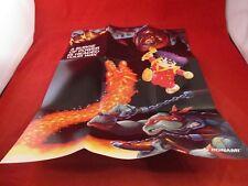 Konami Super Nintendo SNES Foldable Promo Poster Insert ONLY TMNT Castlevania