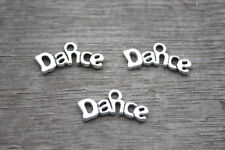 30pcs Dance Charms Antique Tibetan Silver Tone dance charm pendants 9x20mm