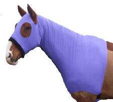 Ecotak lycra skinny hood with bib. Purple Ecotak