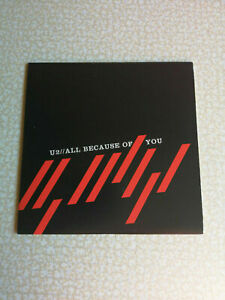 U2 - ALL BECAUSE OF YOU - CD SINGLE 1 TRACK PROMO MEXICO CARD SLEEVE - NEW