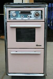 RARE O'Keefe & Merritt Vintage Cabinet Flush Gas Wall Oven & Broiler / PICK UP