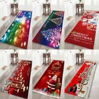 Christmas Santa Claus Anti-slip Kitchen Room Floor Mat Decor Carpet Rug 4 Sizes