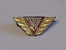 Vintage Early YMCA Gold & Enamel Brooch Lapel Pin Y INTERNATIONAL MENS CLUB Old