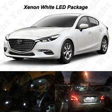 9 x Xenon White LED Interior Bulbs + License Plate Lights For 2017 Mazda 3