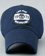 NUOVO Timberland vivere liberi England Berretto Da Baseball Logo sul Davanti Navy completamente regolabile