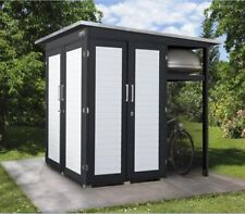 unterstand fahrrad gartenhaus ebay. Black Bedroom Furniture Sets. Home Design Ideas
