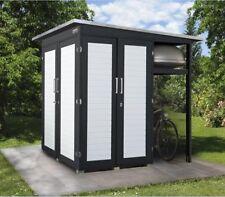 unterstand fahrrad gartenhaus ebay. Black Bedroom Furniture Sets. Home Design Ideas