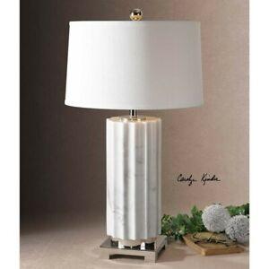 Uttermost Castorano White Marble Lamp