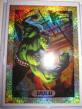 CARTE MARVEL MASTERPIECES SERIE 1994 HULK 4 OF 10 GOLD HOLOFOIL CARD MINT