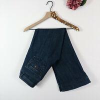 CABI JEANS Women's Denim Blue Jeans Boot Cut Flare Dark Wash Size 6