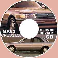 TOYOTA CRESSIDA MX83 1989 - 1992 7MGE 7MGTE WORKSHOP MANUAL CD