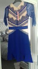 Dress size 10 Blue & Cream