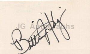 Billie Jean King - World No. 1 Tennis Player - Signed 3x5 Card