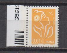 France : n° 3731 a (1c. Marianne de Lamouche une 1/2 barre) **. TTB. Cote 10 €.