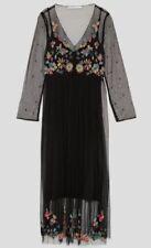 Vestidos de mujer negro Zara de poliéster