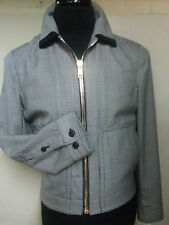 *MARC JACOBS* NEW WITH TAGS  ZIPPERED JACKET 100% PURE WOOL 38 REG.MADE IN ITALY