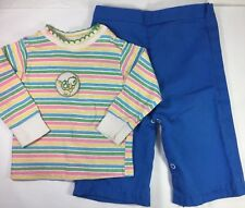 Vintage Girls 2-piece Outfit L/S Shirt Pants Clothes Lot Made USA 1980s 18-24 mo
