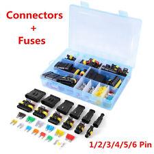 Car Truck Waterproof Electrical Connector Terminal 1/2/3/4/5/6 Pin Way+Fuses Kit