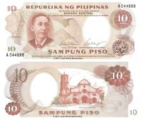 Philippines 10 Piso 1969 P-144a Sig. 7 Banknotes UNC