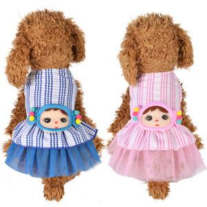 Dog Cat Tutu Dress Lace Skirt Pet Puppy Vest Princess Costume Apparel Clothes