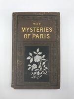 Antique Victorian Novel Mysteries of Paris Eugene Sue Les Miserables Inspiration