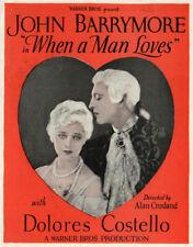 JOHN BARRYMORE Vintage 1927 Silent Film DOLORES COSTELLO Vitaphone Movie Herald