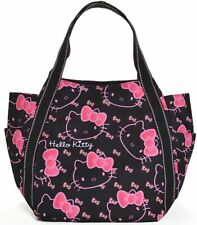 Sanrio x Manufatto Hello Kitty Black Pink Diaper Bag Big Balloon Tote Japan New
