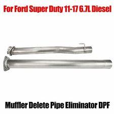 Muffler Delete Pipe Eliminator Dpf For Ford Super Duty 2011-17 6.7L Diesel Truck