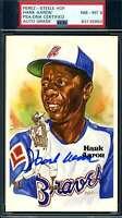 Hank Aaron PSA DNA Coa Autograph Hand Signed Perez Steele Postcard