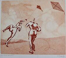 GIRAUD : Gravure originale signée. Timbre sec Galerie des peintres graveurs Frap