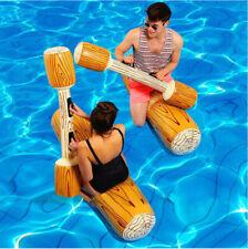 Wassersport Float Aufblasbares Holzspielzeug Tragbar Satz für Poolschwimmer DHL