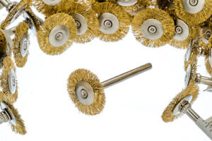 "36pc 3/4"" Brass Wire Wheel Brushes Polishing Grinding Dremel Rotary Tool"