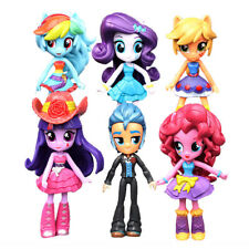 My Little Pony Equestria Girls Monster 6 PCS Action Figures Dolls Kids Toys Gift