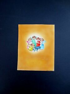 Original Water Color Painting for Xmas Card Art by Erica Von Kager Angel Choir