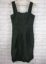 VERONIKA MAINE  Evening dress Sz 8 Black Textured material Linen mix