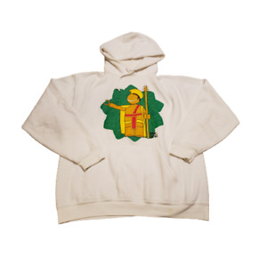 Jerzees Mr NG Graphic Print Hoodie | Men's Large L | White / Green / Yellow
