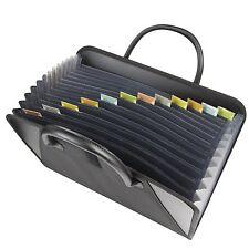 Expanding File Briefcase Handles Letter Document Folder Storage Organizer Office