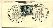 GERMANY Deutsches Reich SC# B132 First Day of Issue MUNCHEN 1939 USED