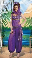 WOMENS FANCY DRESS BELLY DANCER JASMINE ALADDIN GENIE PRINCESS COSTUME OUTFIT