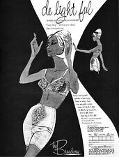 Warners Long Leg Pantie BRA Broadway Department Store DELIGHTFUL 1965 Print Ad
