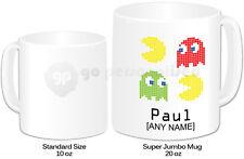Personalised Jumbo Giant 20oz Mug- Pacman Design #2- Any Name