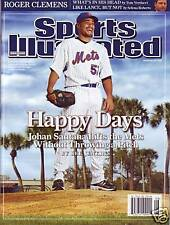 Sports Illustrated 2008 New York Mets Johan Santana No Label Newstand Issue