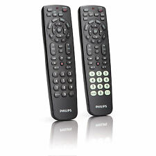 PHILIPS SRC2063 2 PACK 6 IN 1 + 3 IN 1 UNIVERSAL REMOTE CONTROL TV BLURAY SAT