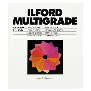 Ilford Multigrade Filter Set for Enlarger - Set of 12 Filters