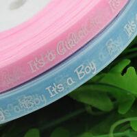 "Upick 10Y or 30Y 1/2"" Pink and Blue Organza ribbon Boy/girl baby show Craft"