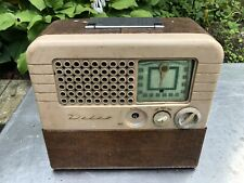 Vtg Delco Tube Receiver Radio 1950s Stereo Table Desk Top Lights Up Antique