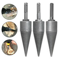 1 Log Splitter Screw Cone Kindling Firewood Splitter For Hand Drill Stick Copper