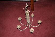 Antique Victorian Art Deco 5 Light Chandelier W/Arrow & Quill Design-#2