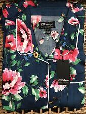 Silver Floral X-Large PJ Salvage Womens Sleepwear Pajama Short with Detail